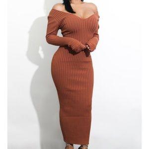 Dresses & Skirts - Off the shoulder sweater dress